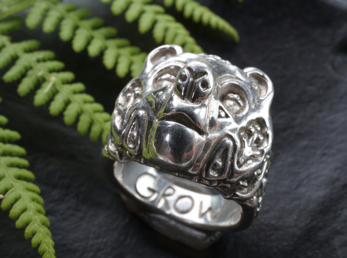 Bear Ring Of Growth 3d printed