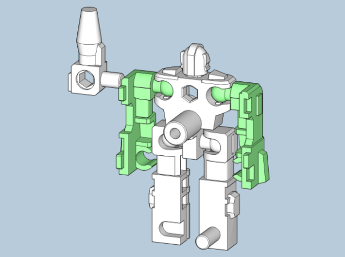 """MicroSlinger """"Mayhem"""" 3d printed Arms attached."""