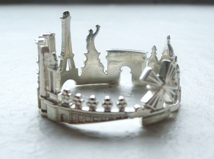 Paris Skyline - Cityscape Ring 3d printed