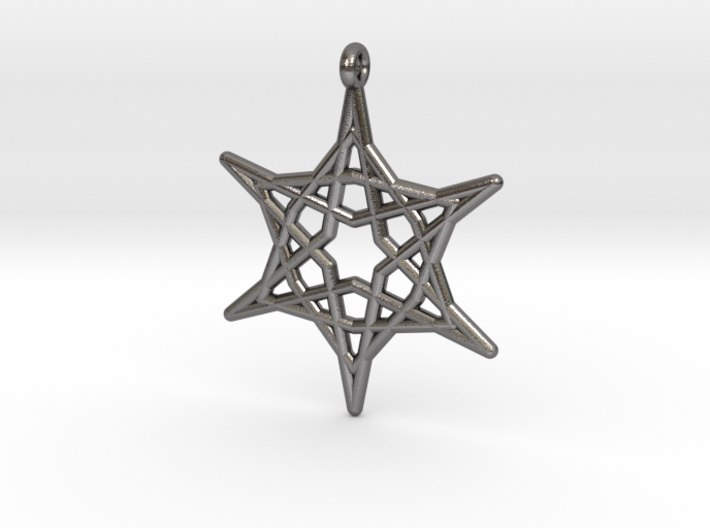 Hex Star Pendant 3d printed