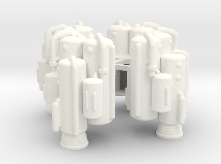 Dinky Eagle Heavy Lift Booster - Four Pack 3d printed