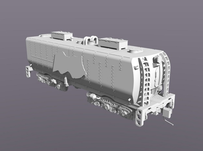 UP Water Tender N Scale 1:160 Jim Adams  3d printed