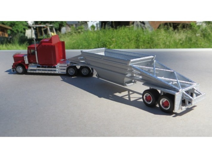 000593 Bottem dump trailer HO 3d printed