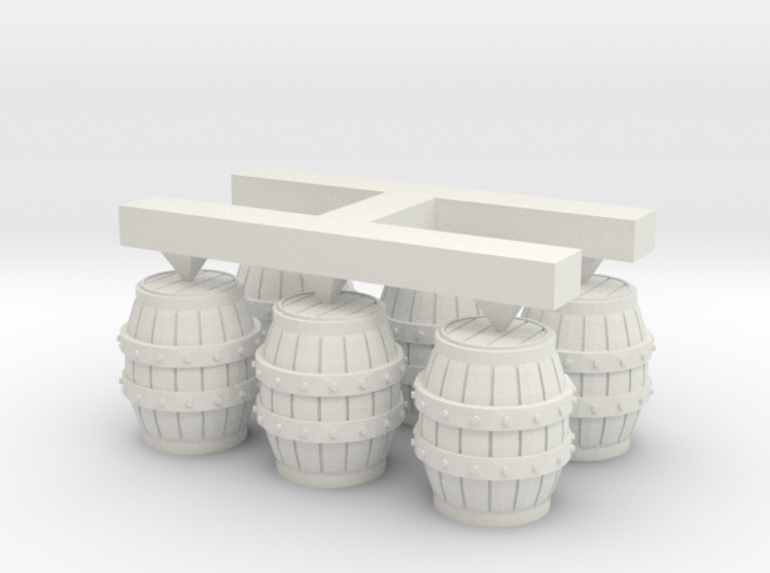 S Scale Barrels (2) 3d printed This is a render not a picture