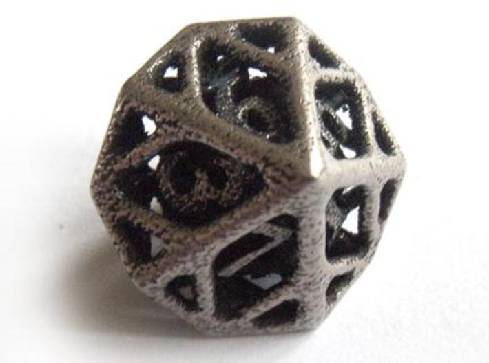 Cage d10 3d printed In stainless steel and inked
