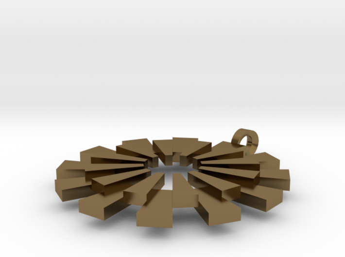 Sun Burst Pendant - Printed Sun in Fine Metals 3d printed