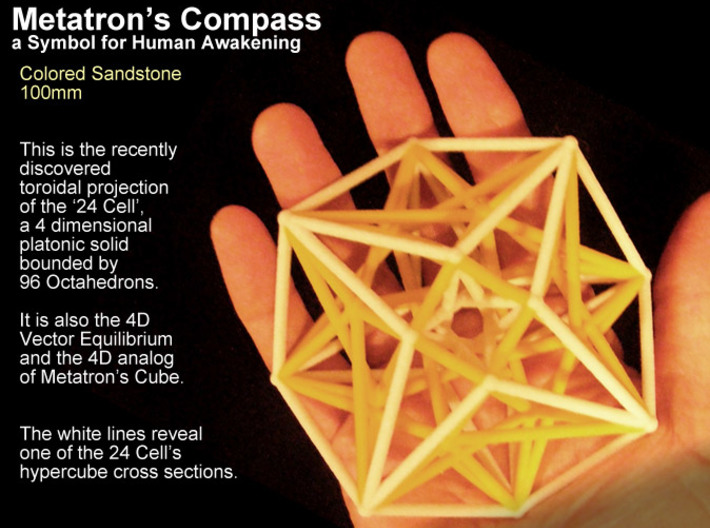 Metatron's Compass 100mm -4D Vector Equilibrium -  3d printed Still waiting for a black print but here the yellow one :-)