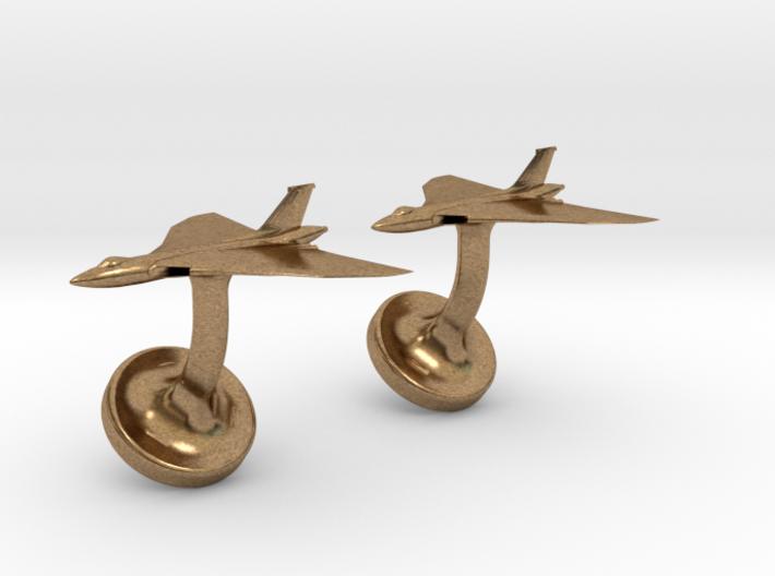 Vulcan cufflinks 3d printed