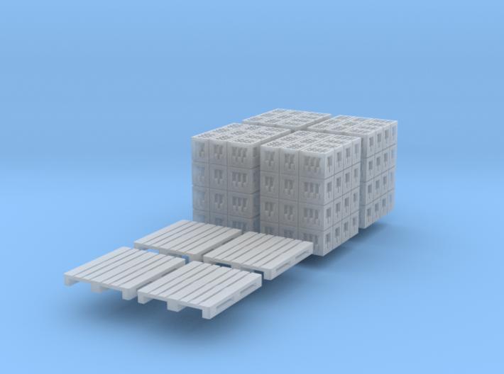 4x DIN-Palette mit Cola-kästen (N 1:160) 3d printed