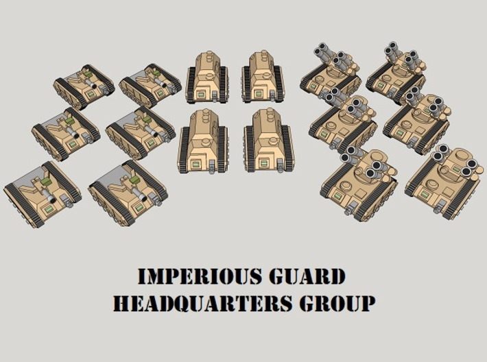 3mm Imperious Guard HQ Group (16pcs) 3d printed