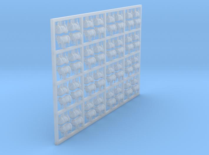 Sheep - Head Raised X 64 N Scale 3d printed