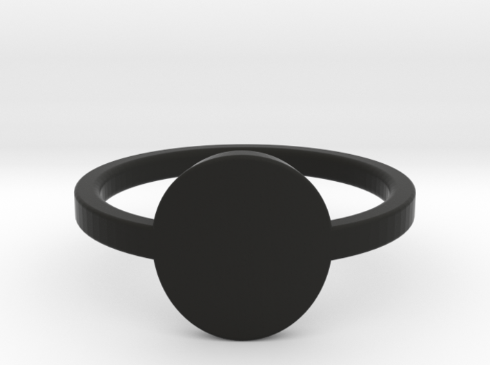 Small Circle Midi Ring 3d printed