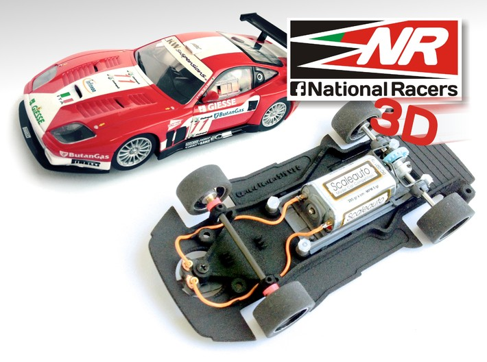 3D Chassis - Carrera Ferrari 575* (Combo) 3d printed Chassis compatible with Carrera model (slot car and other parts not included)