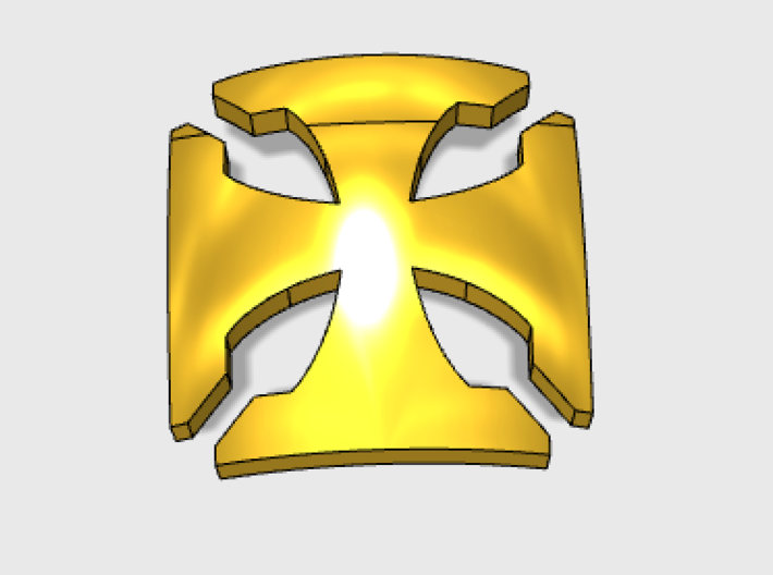 60x Elite Cross 3 : Shoulder Insignia pack 3d printed