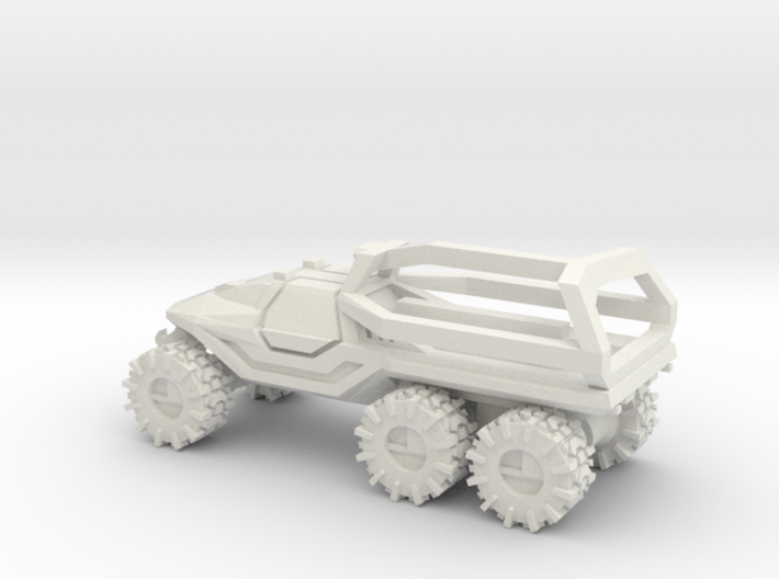 All-Terrain Vehicle 6x6 closed cab with Roll Over  3d printed