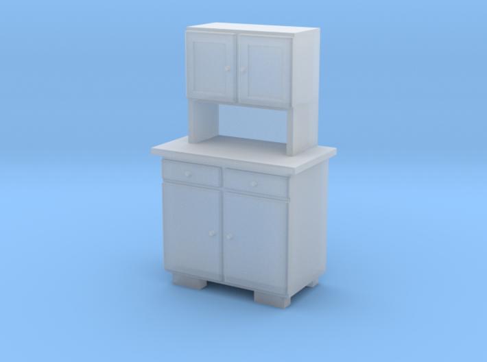 H0 Cupboard 2 Doors A - 1:87 3d printed