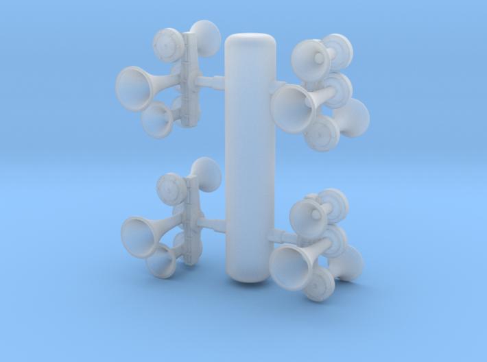 K3L Air Horn, Reversed 1/87.1 3d printed