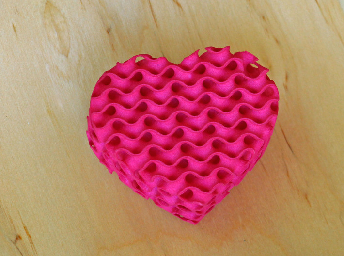 Gyroid Heart Box - Custom Lid 3d printed