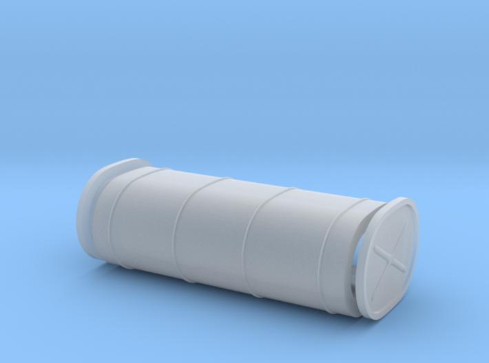 Oblong Hot Rod fuel tank, plain 3d printed