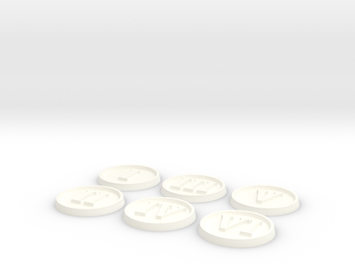 Objective Markers - Numerals 3d printed