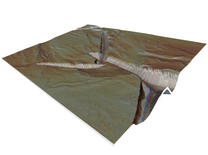 Mars Map: Fissure and Channel 3d printed