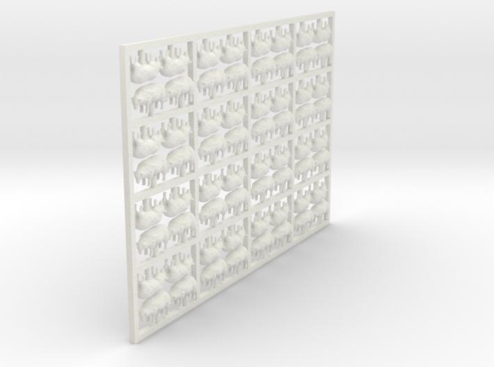 HO Sheep - Grazing X 64 3d printed