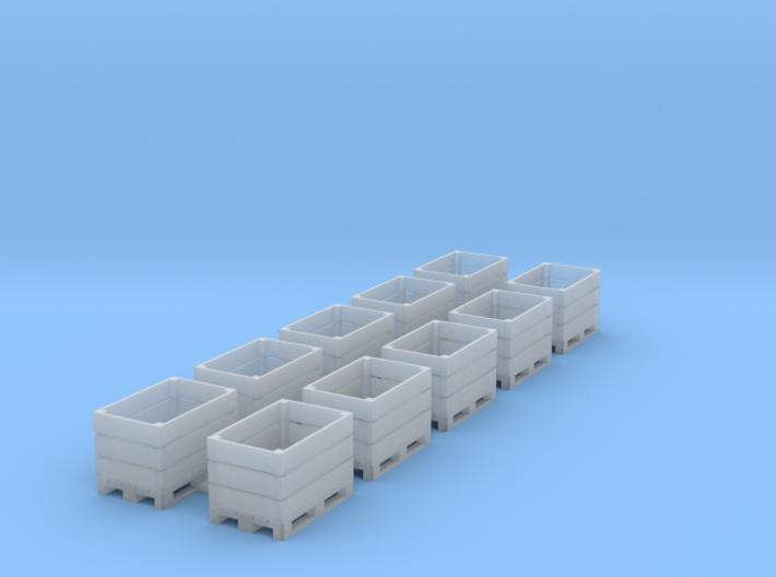 TJ-H02025 - Caisses-Palettes bois ouvertes 3d printed