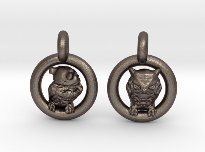 Owl Earrings 3d printed