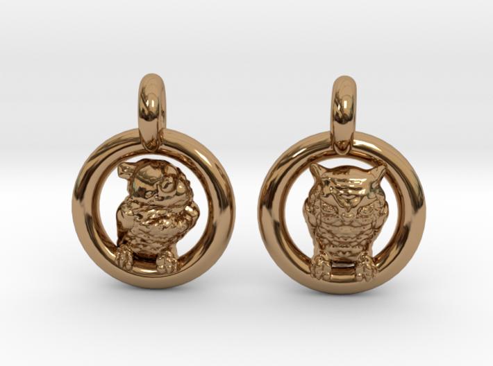 Owl Earrings 3d printed