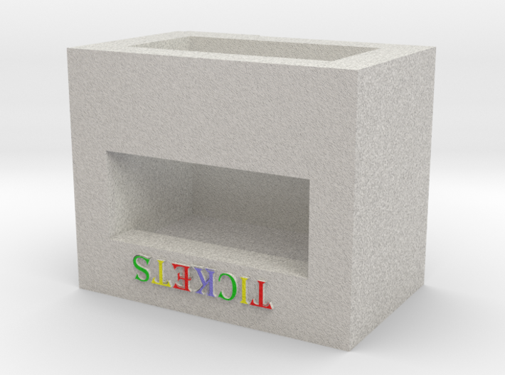 N Scale Carnival/Circus Ticket Booth 3d printed
