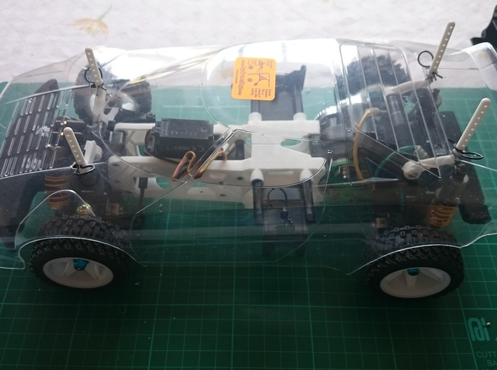 Tamiya M04 - M04S (210mm Wheelbase) chassis 3d printed Example of an assembled chassis with 210mm bodyshell (Not Included)