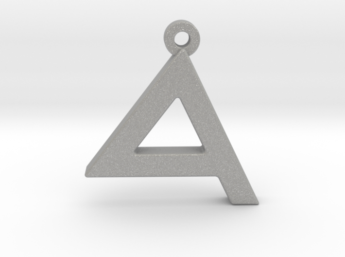 Letter DALET - Paleo Hebrew - With Chain Loop 3d printed