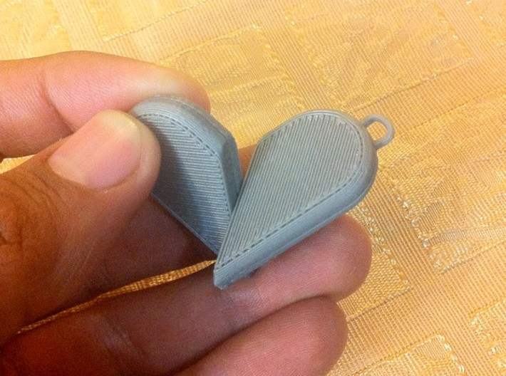 Illusionist Heart Pendant 3d printed Started to open...