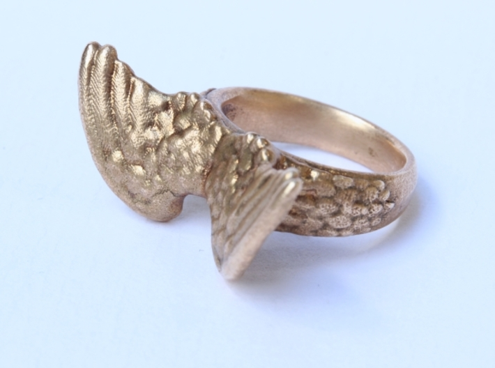 Winged Ring  3d printed