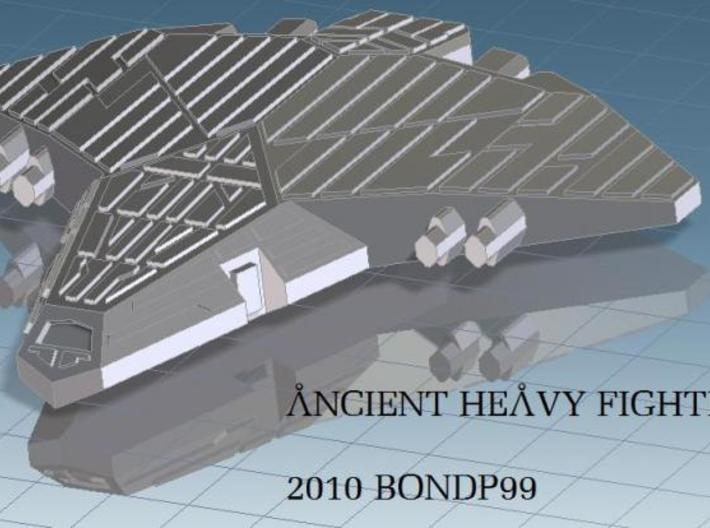 Ancient Heavy Fighter 3d printed render view