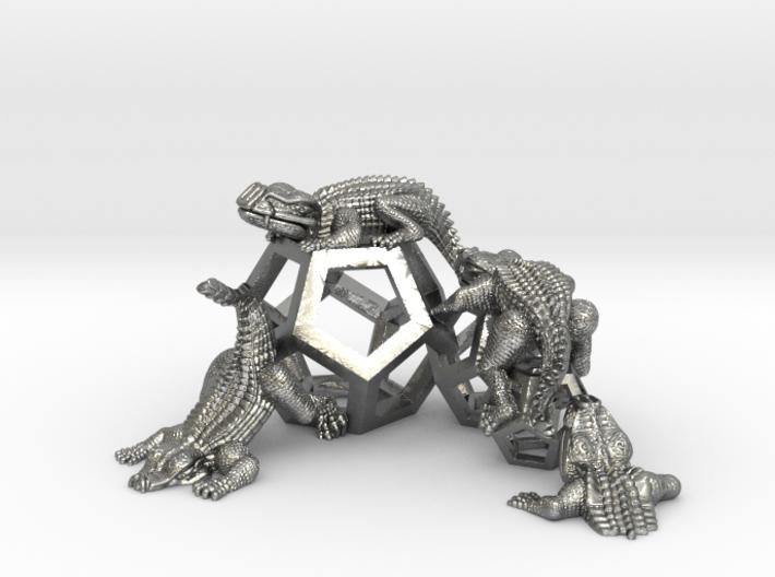 Reptiles & Dodecahedra mini sculpture Fine Art top 3d printed