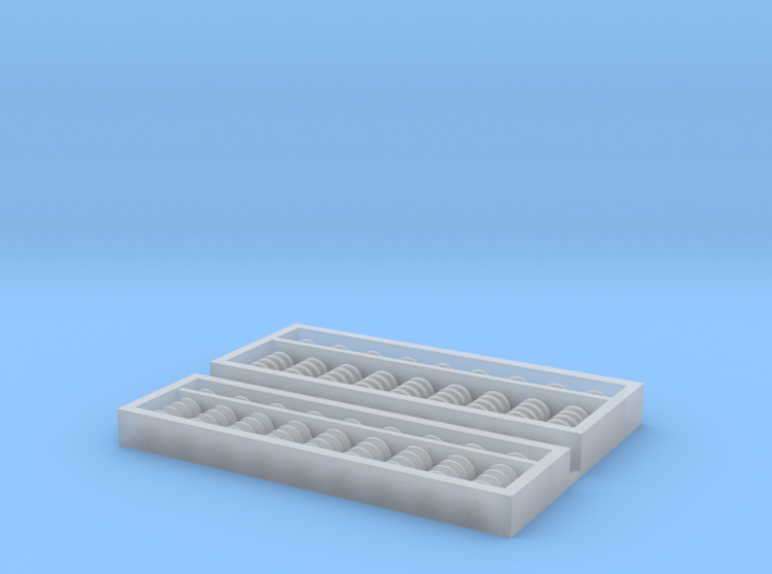 1:12 Chinese + Japanese Abacus Duo 3d printed