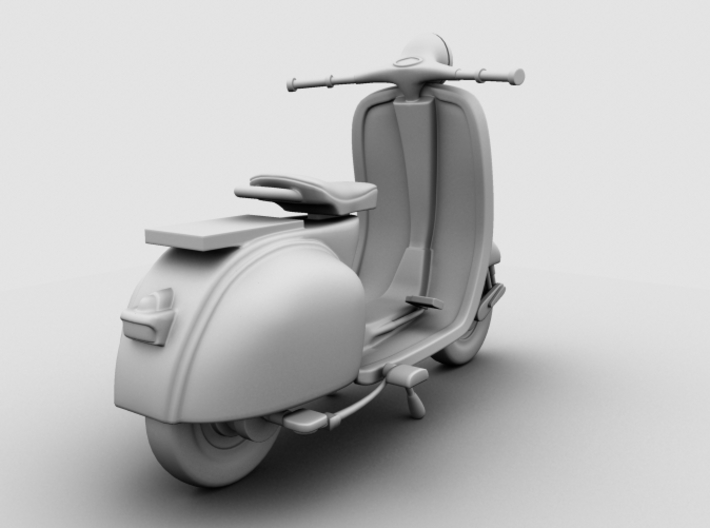 Scooter 3d printed Occlusion Render, Rear