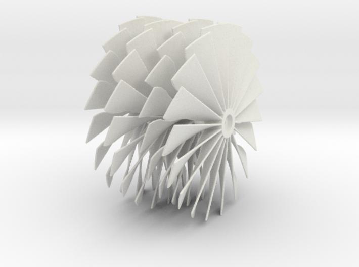 69.5 mm Diameter Turbo Fan SAF 3d printed