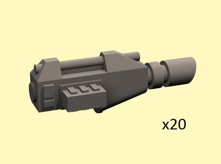 28mm lightbeam pistols (no handle) 3d printed