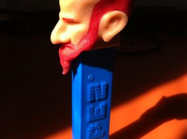 Custom PEZ head 3d printed 2Beards PEZ