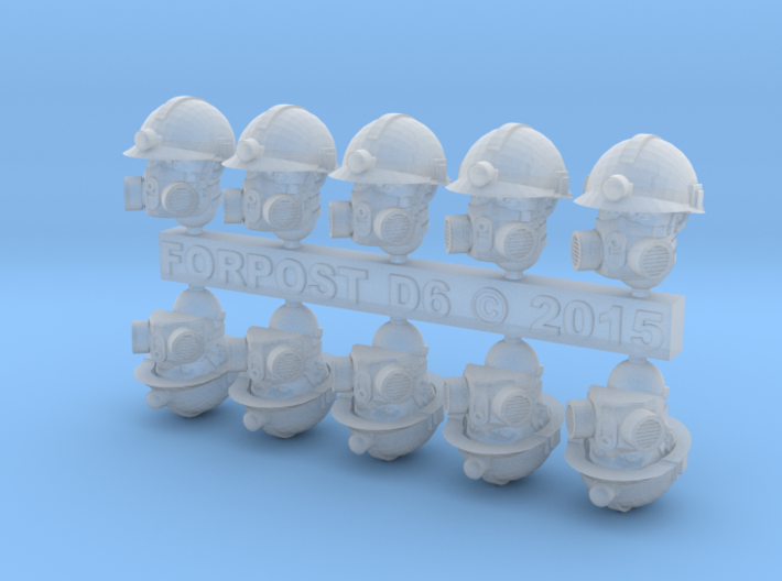 28mm Miner Heads 3d printed