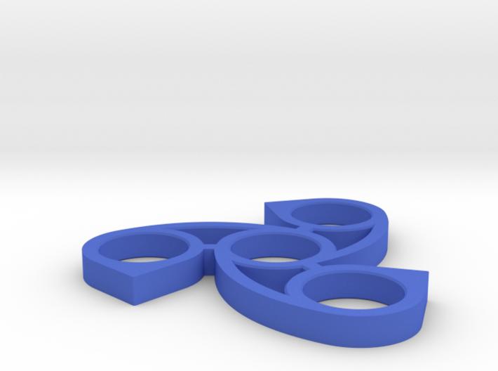 Waterdrop Fidget Spinner 3d printed
