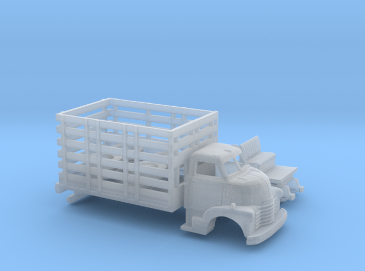 1/87 1949 Chevy COE High Stakebed Kit 3d printed