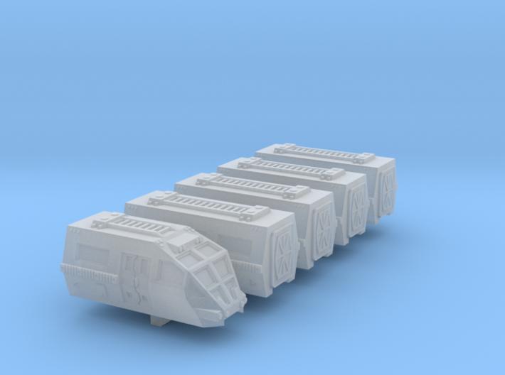 6mm Martian Train (5pcs) 3d printed