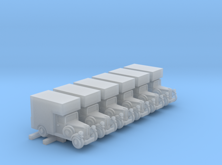 1930s Delivery Truck (6mm, x 6) 3d printed