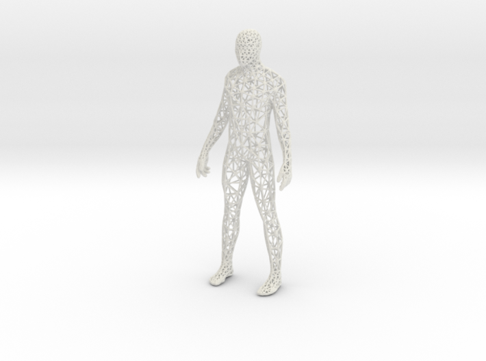 Human Male Triangulated 3d printed