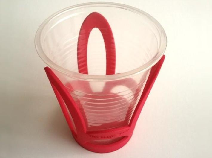 Cup Holder 3d printed With plastic cup
