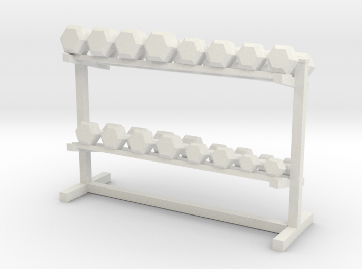 1:48 Free Weight Rack 3d printed