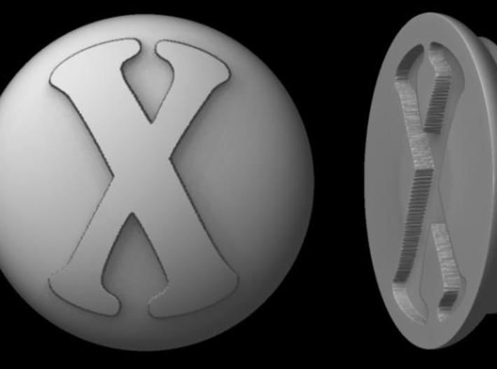 "Paperweight - ""X"" 3d printed Rendered image"